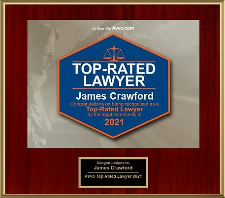 AVVO Top Rated Lawyer 2021 Award - James Crawford